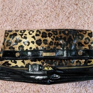 Jessica Simpson oversized cheetah clutch